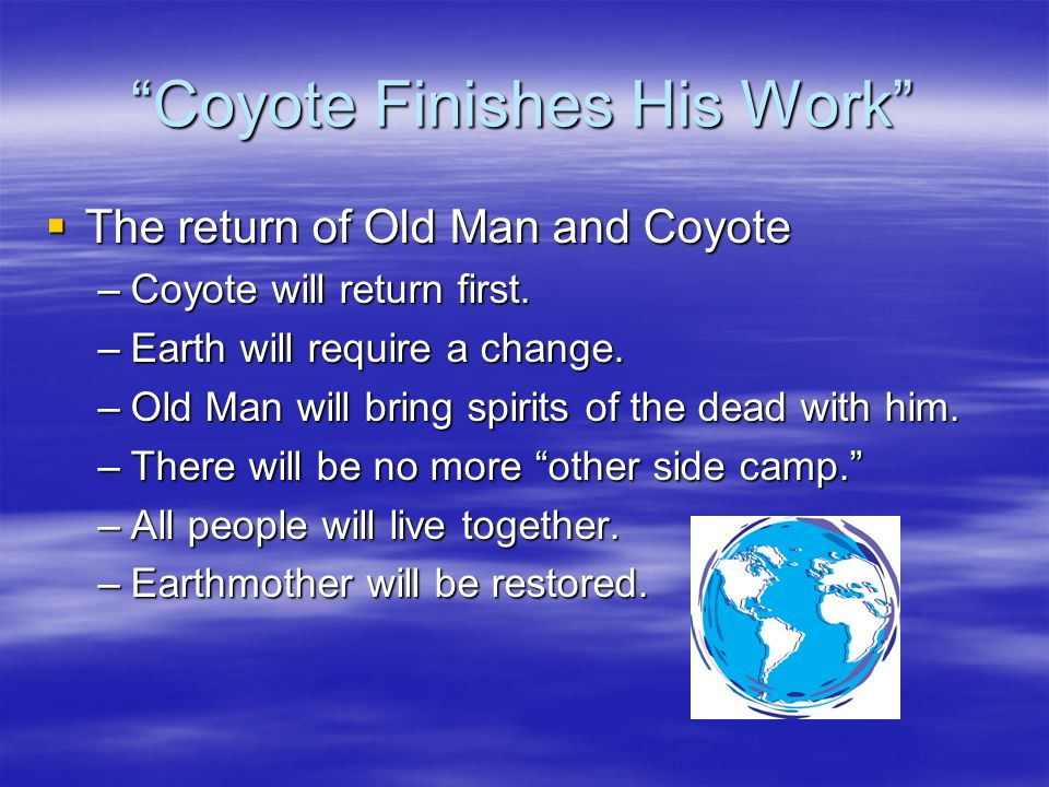 Expository Essay on Coyote Finishes His Work