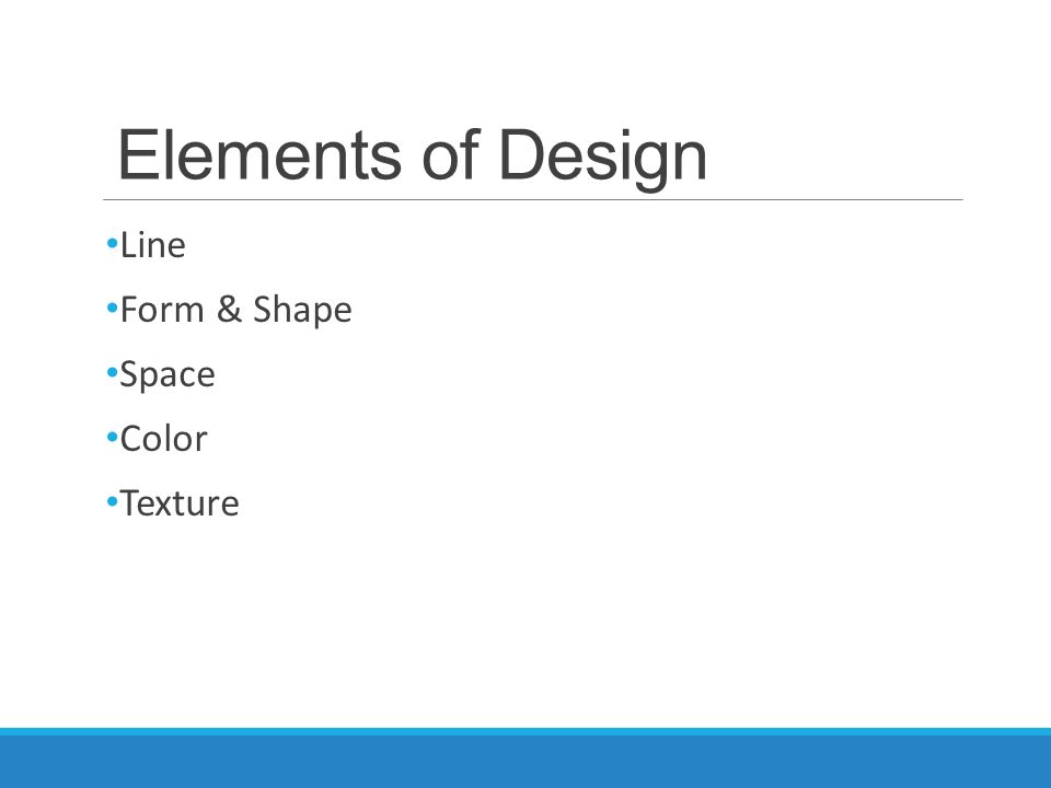 Applications of technology ppt download for Elements of design space