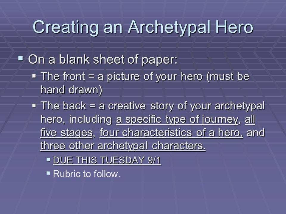 Characteristics of a hero essay