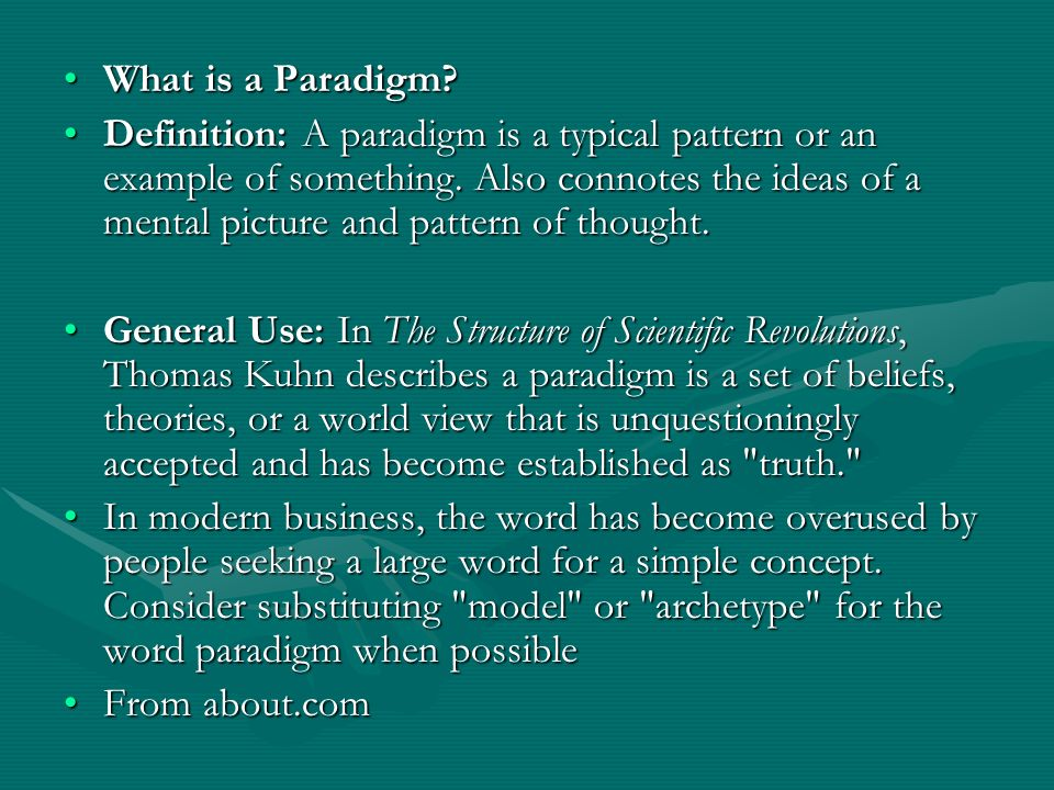paradigm shift example thomas kuhn Thomas kuhn's paradigm - in this paper i following the overview i will present the example of 'the copernican revolution' to empirically show a paradigm shift.