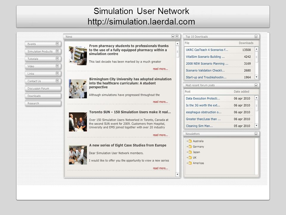 Simulation User Network