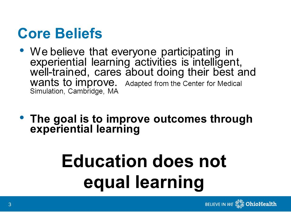 Education does not equal learning