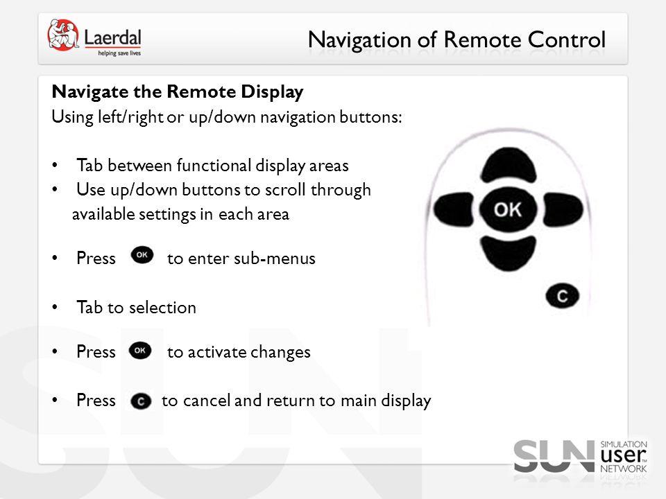 Navigation of Remote Control