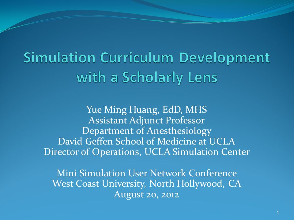 Simulation Curriculum Development with a Scholarly Lens