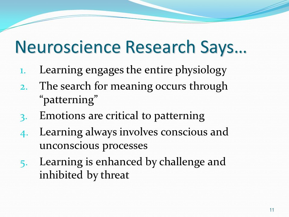 Neuroscience Research Says…