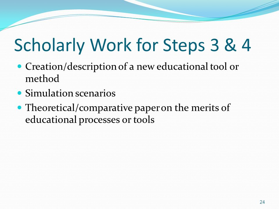 Scholarly Work for Steps 3 & 4