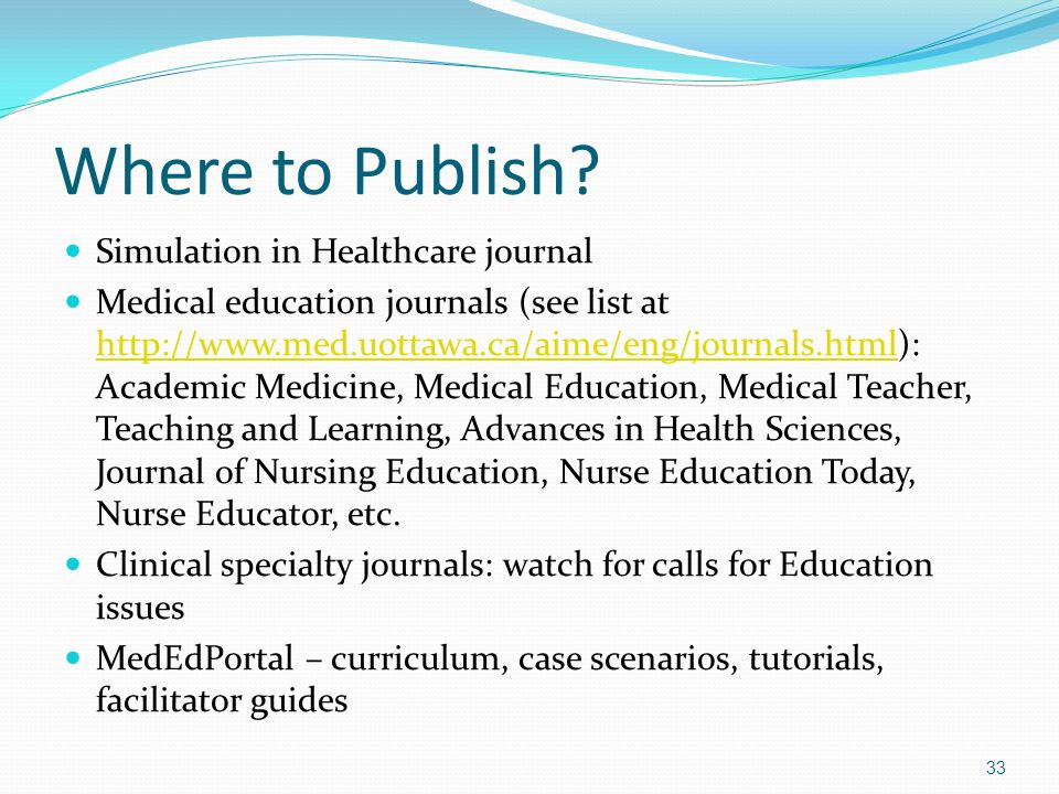Where to Publish Simulation in Healthcare journal