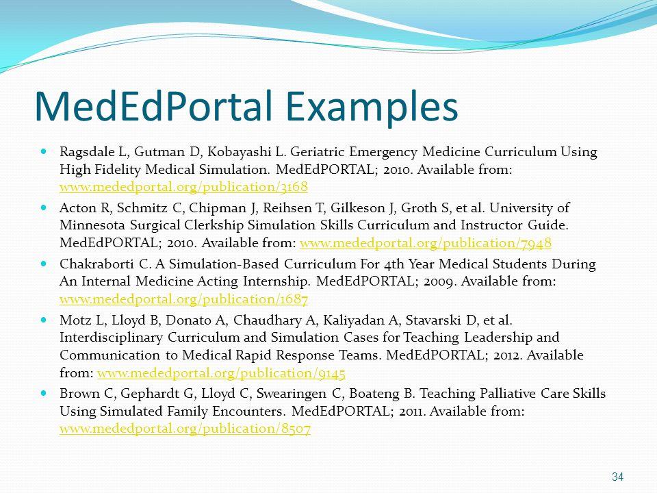 MedEdPortal Examples
