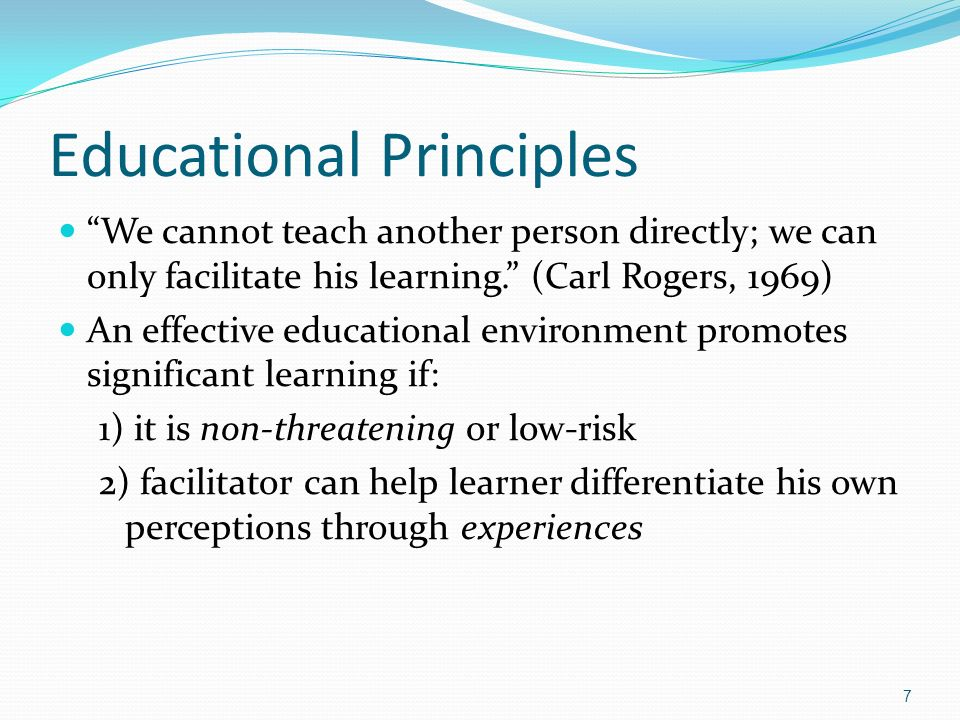 Educational Principles
