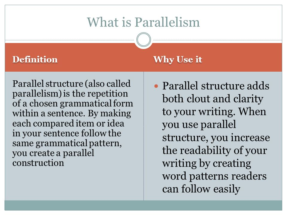 how to revise a sentence to create parallelism