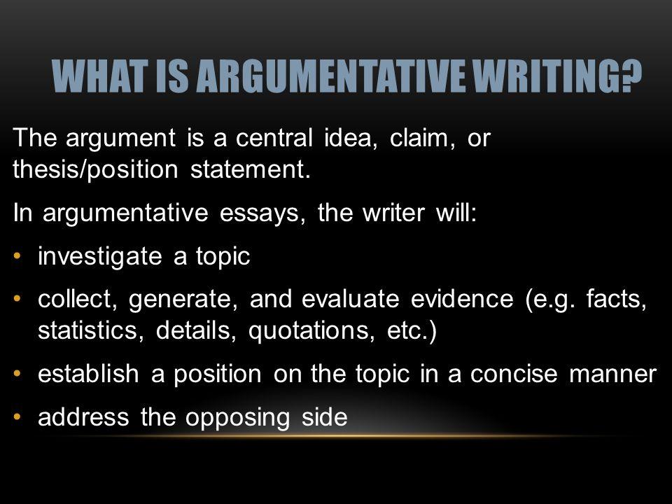 8th grade argumentative essays