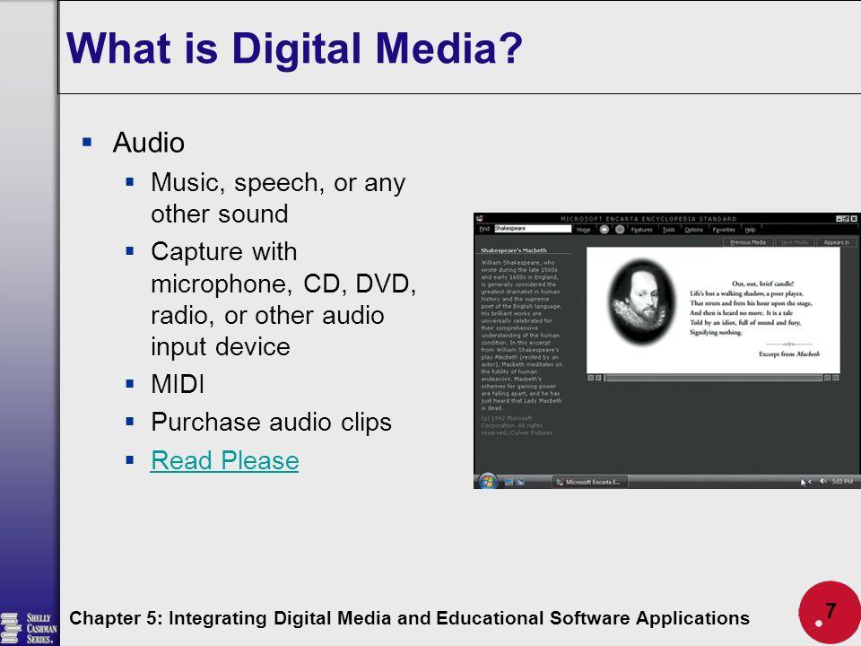 Integrating Digital Media and Educational Software ...