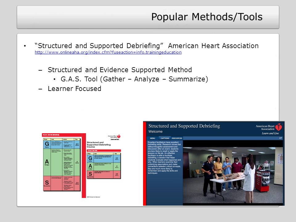 Popular Methods/Tools