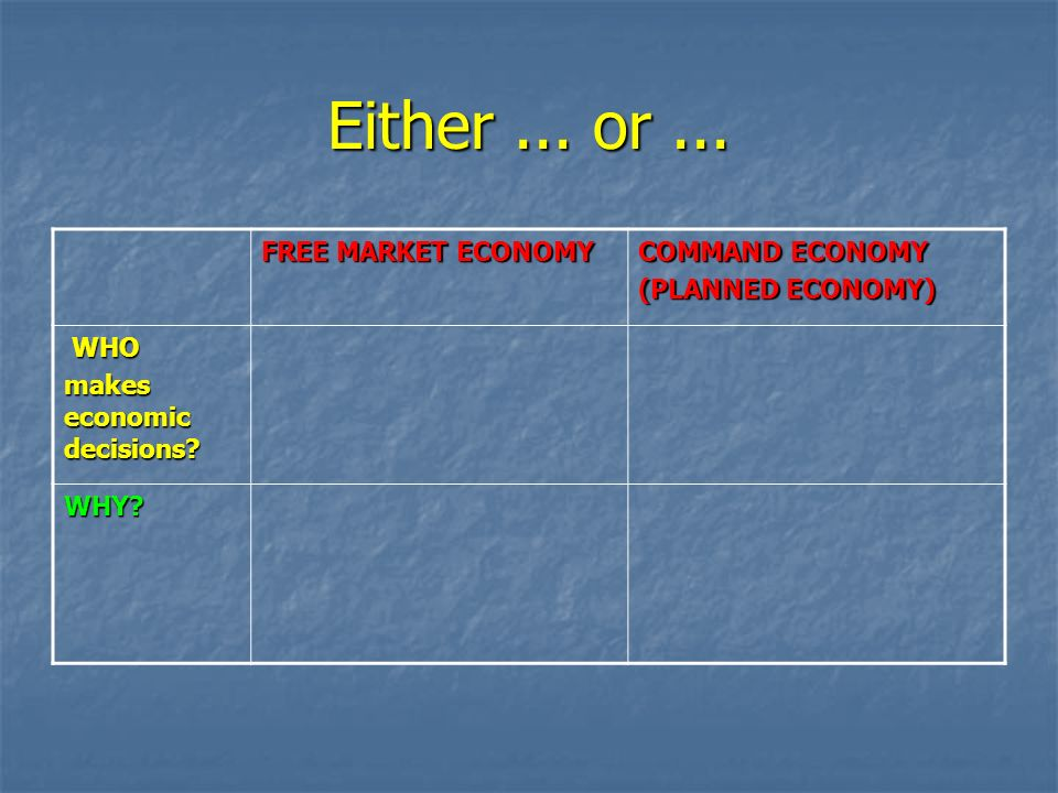 market economy command The government has more authority in a command economy, while private citizens and companies have more influence in a market economy, according to infoplease from.