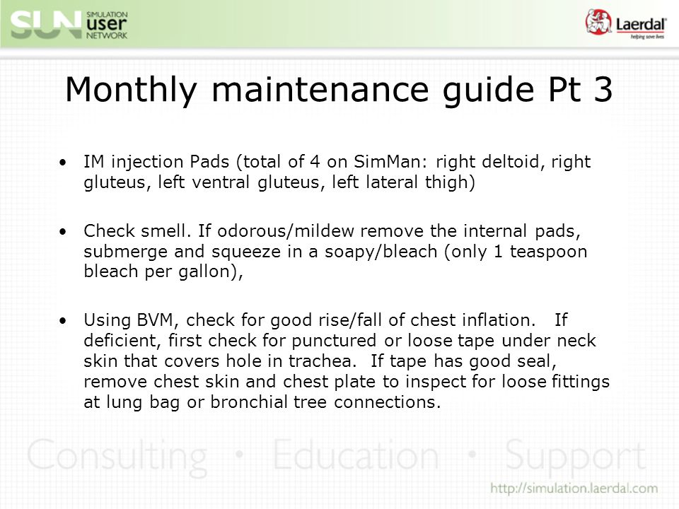 Monthly maintenance guide Pt 3
