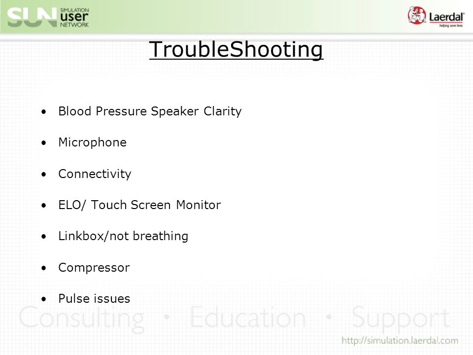 TroubleShooting Blood Pressure Speaker Clarity Microphone Connectivity