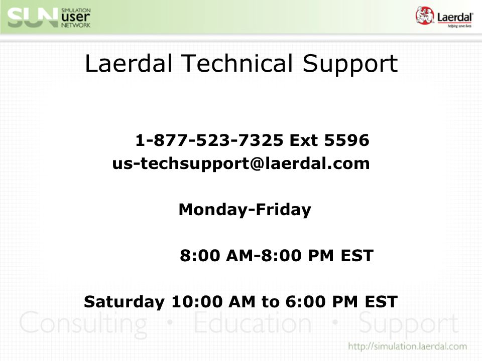 Laerdal Technical Support