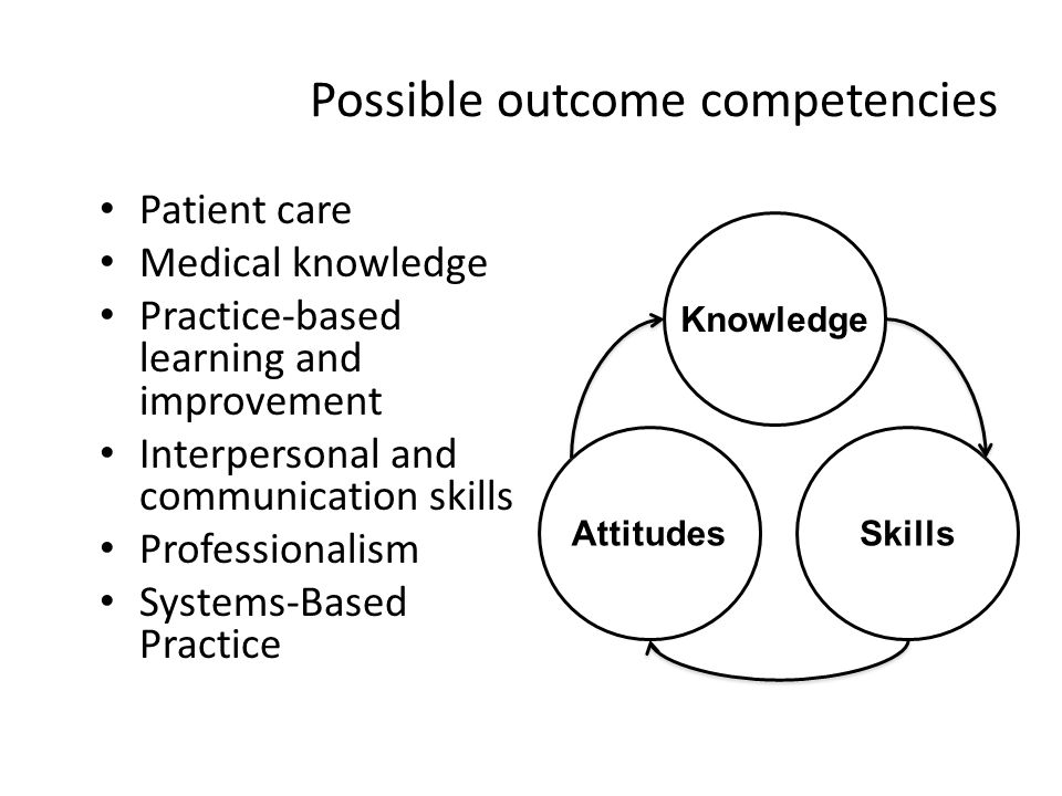 Possible outcome competencies