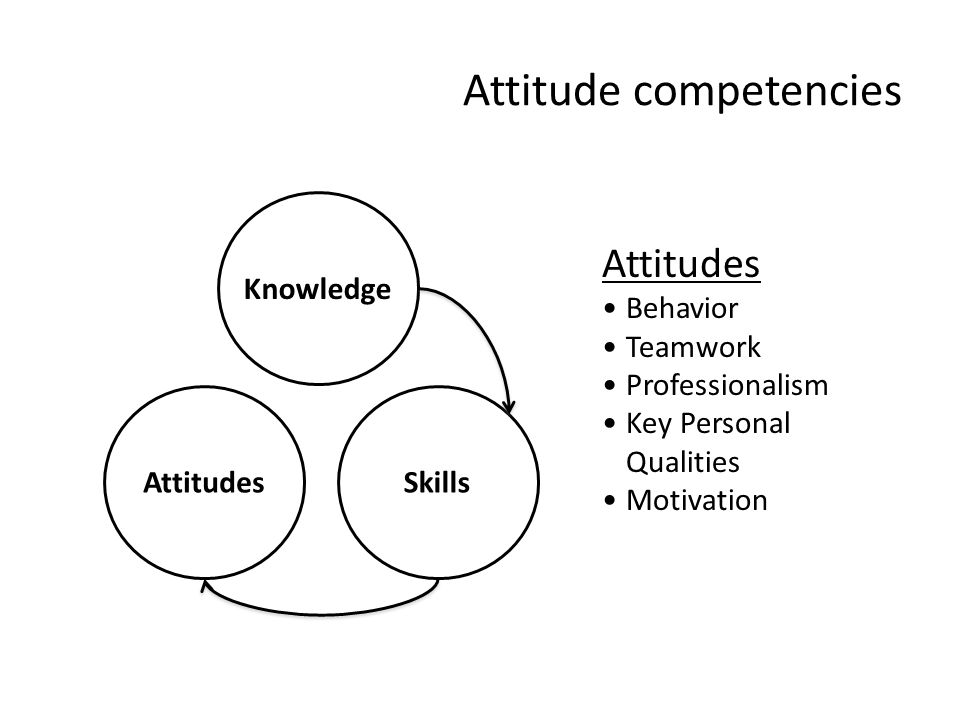 Attitude competencies