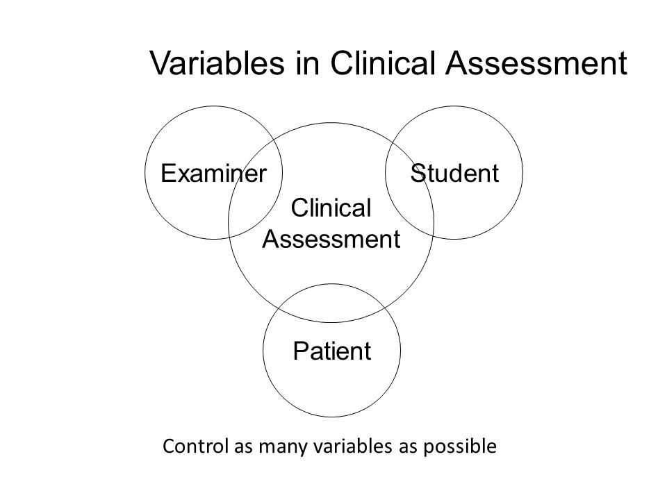 Variables in Clinical Assessment