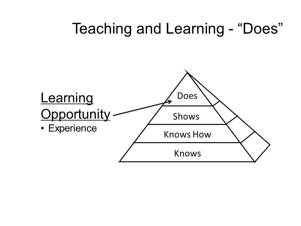 Teaching and Learning - Does