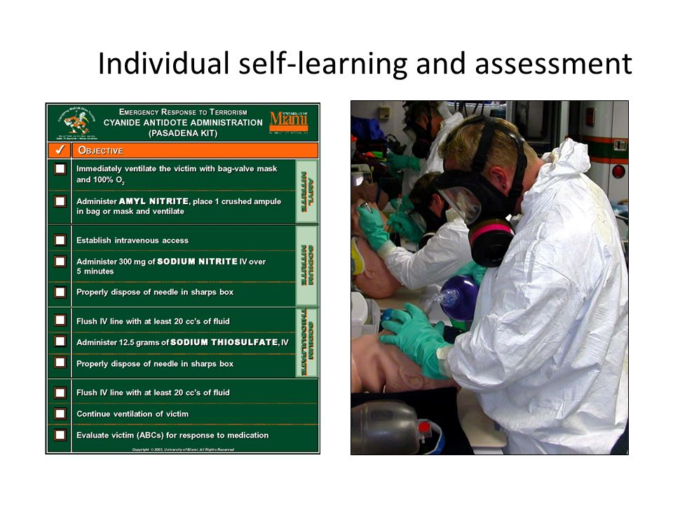 Individual self-learning and assessment