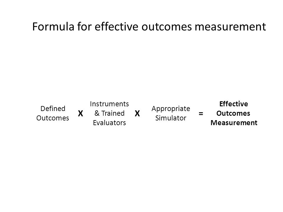 Formula for effective outcomes measurement