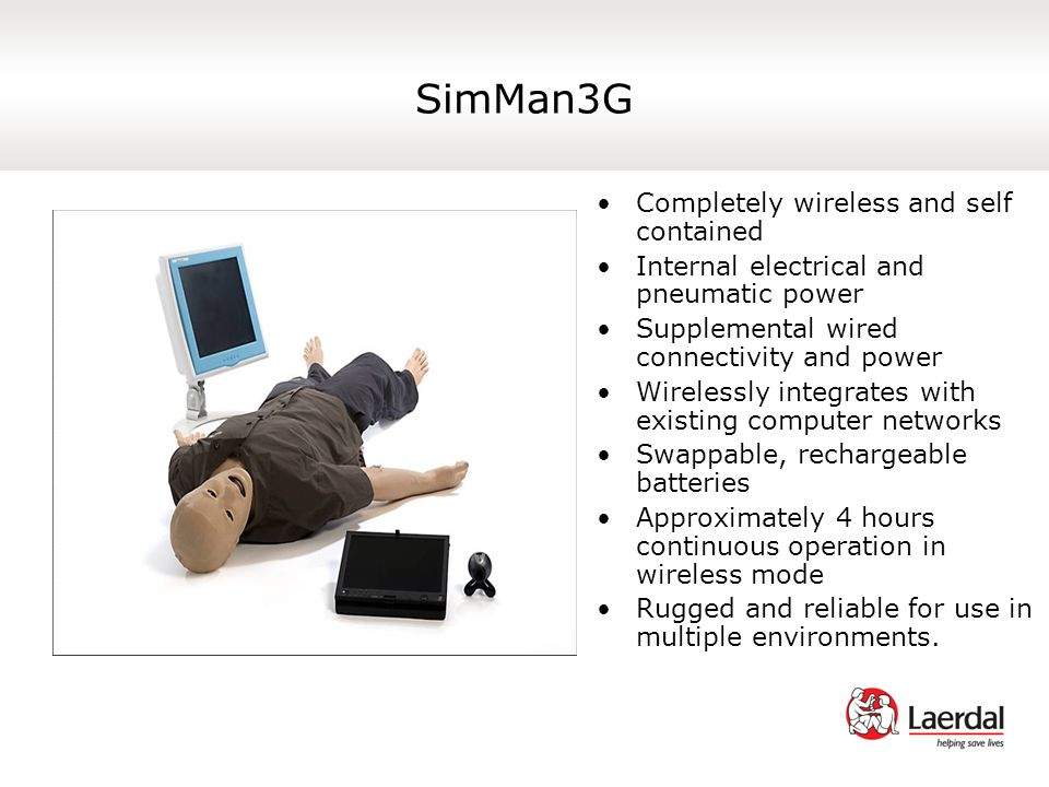 SimMan3G Completely wireless and self contained