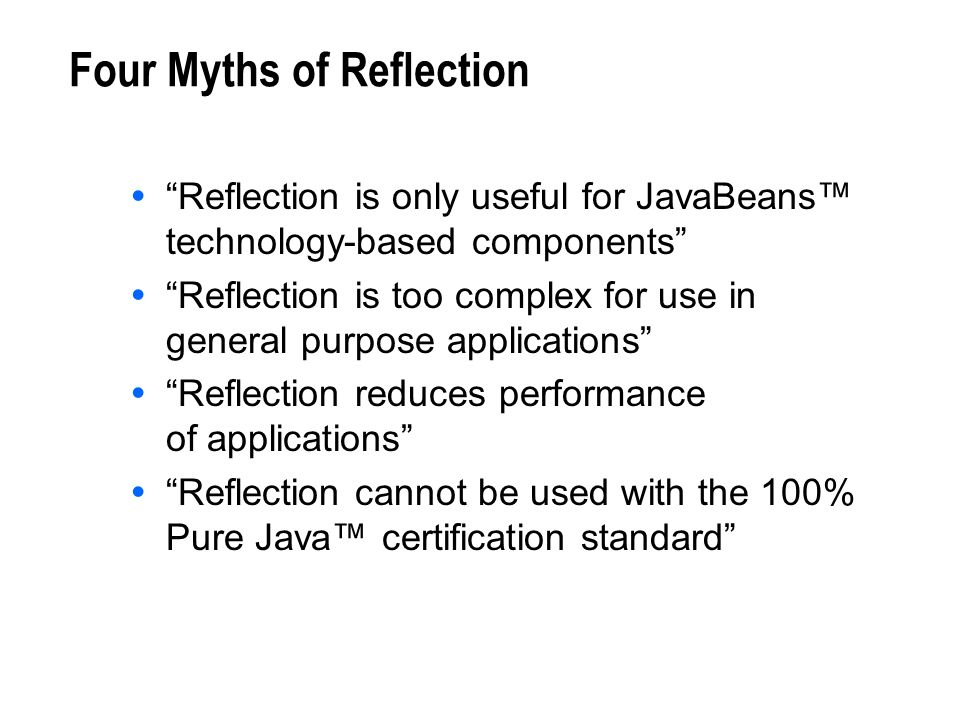 Four Myths of Reflection