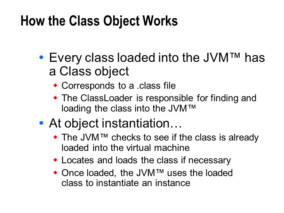 How the Class Object Works