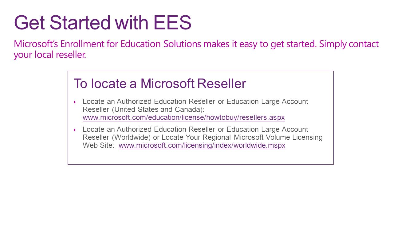 Enrollment for Education Solutions - ppt download