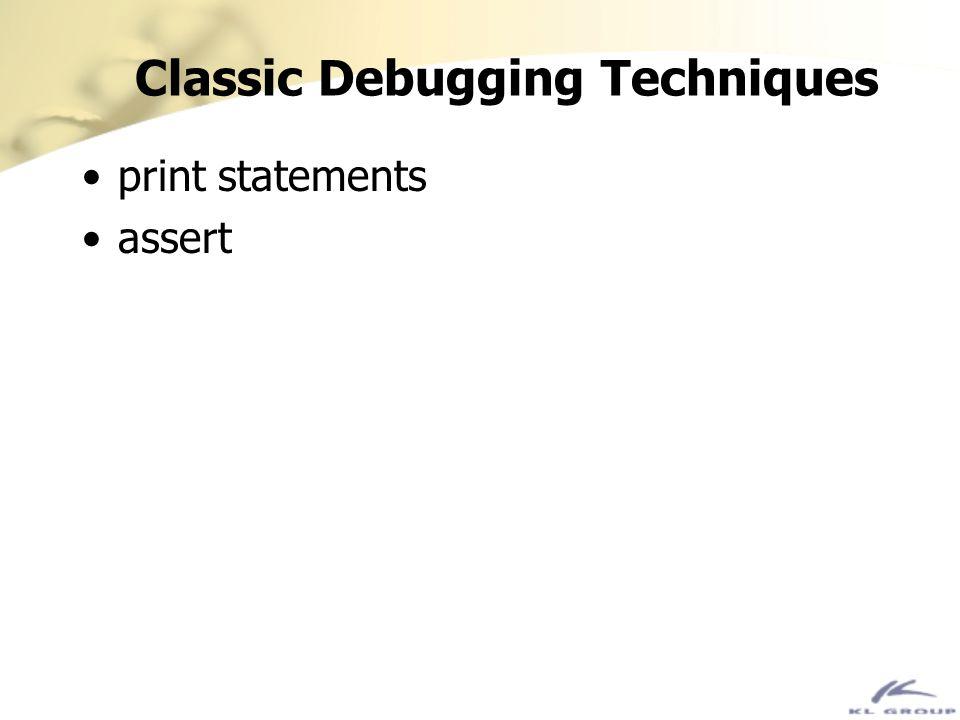 Classic Debugging Techniques
