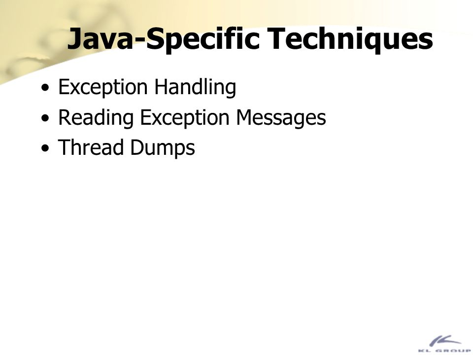 Java-Specific Techniques