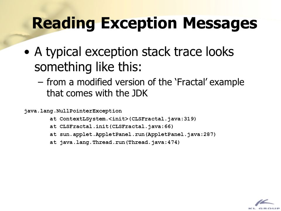 Reading Exception Messages