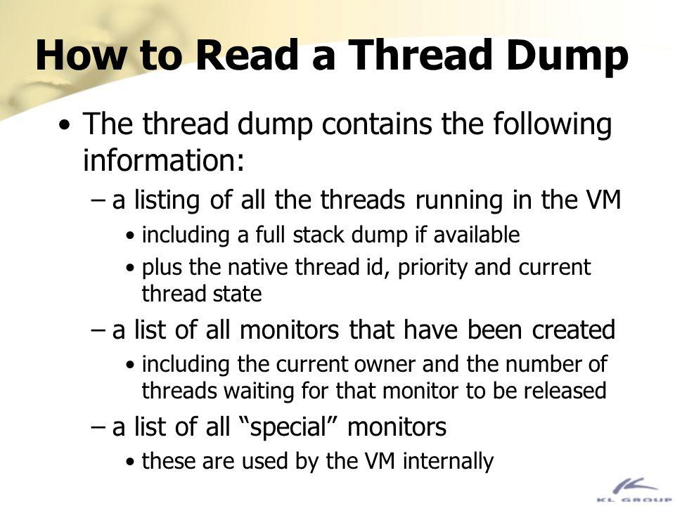 How to Read a Thread Dump