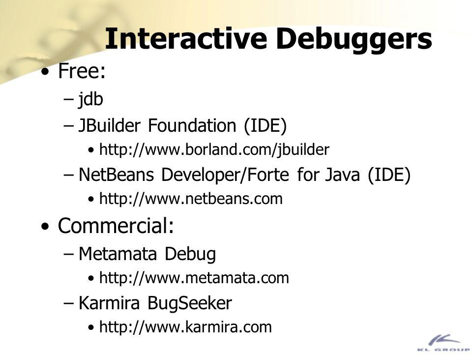 Interactive Debuggers