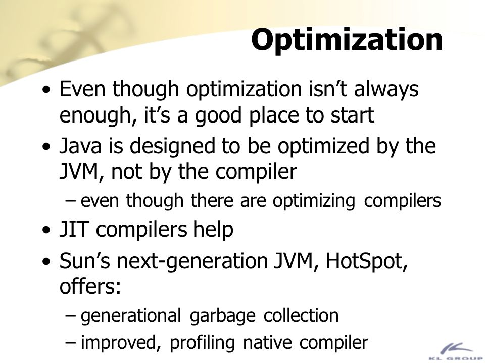 Optimization Even though optimization isn't always enough, it's a good place to start.