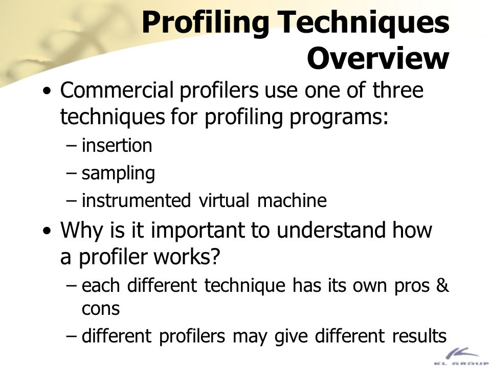 Profiling Techniques Overview
