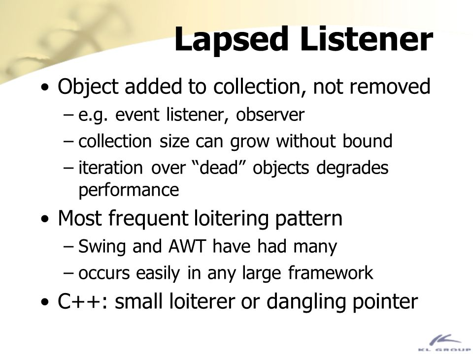 Lapsed Listener Object added to collection, not removed