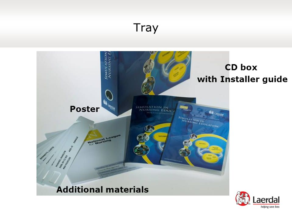 Tray CD box with Installer guide Poster Additional materials