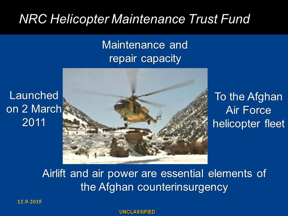 NRC Helicopter Maintenance Trust Fund
