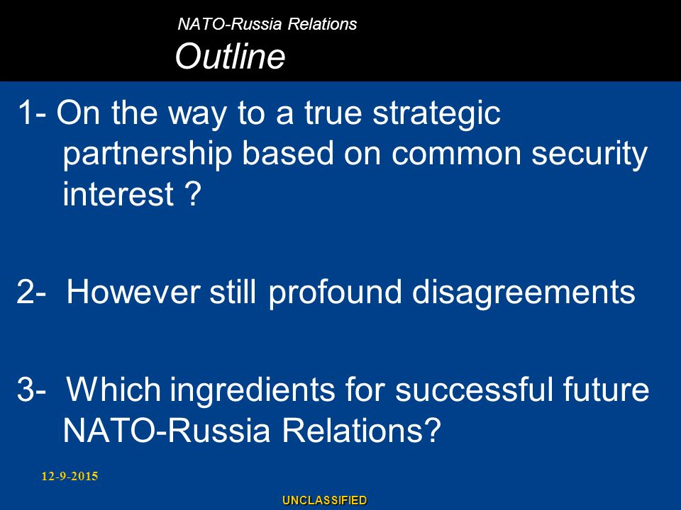 NATO-Russia Relations Outline