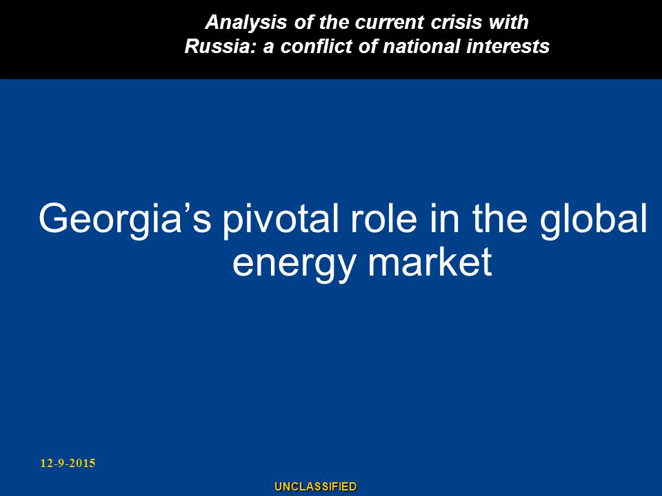Georgia's pivotal role in the global energy market