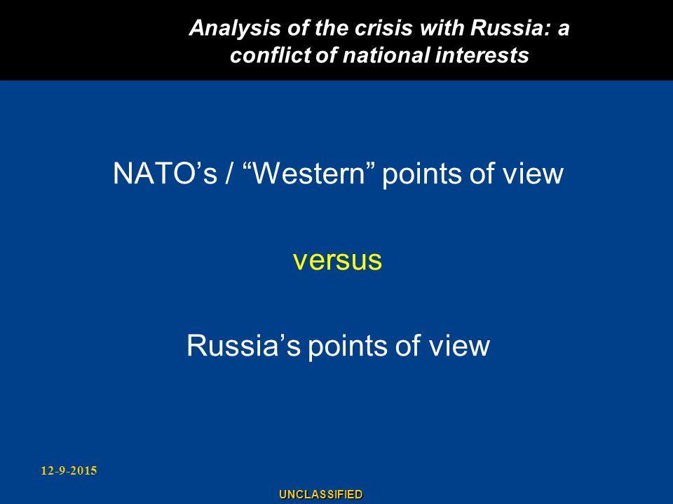 Analysis of the crisis with Russia: a conflict of national interests