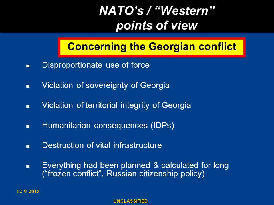 NATO's / Western points of view