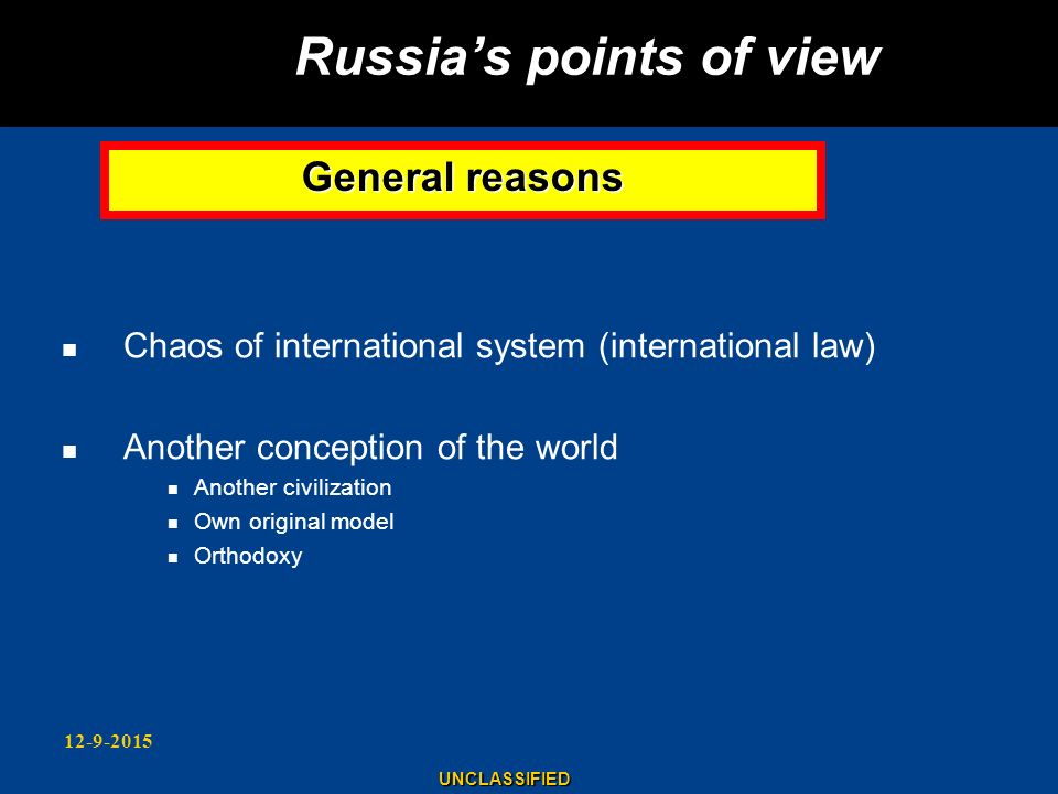 Russia's points of view