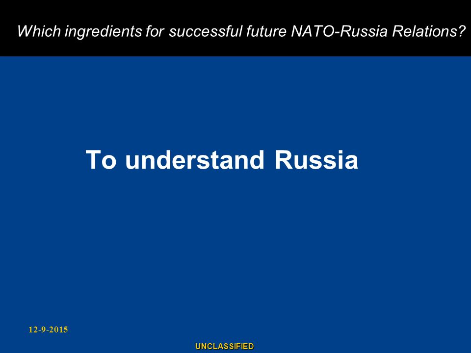 Which ingredients for successful future NATO-Russia Relations