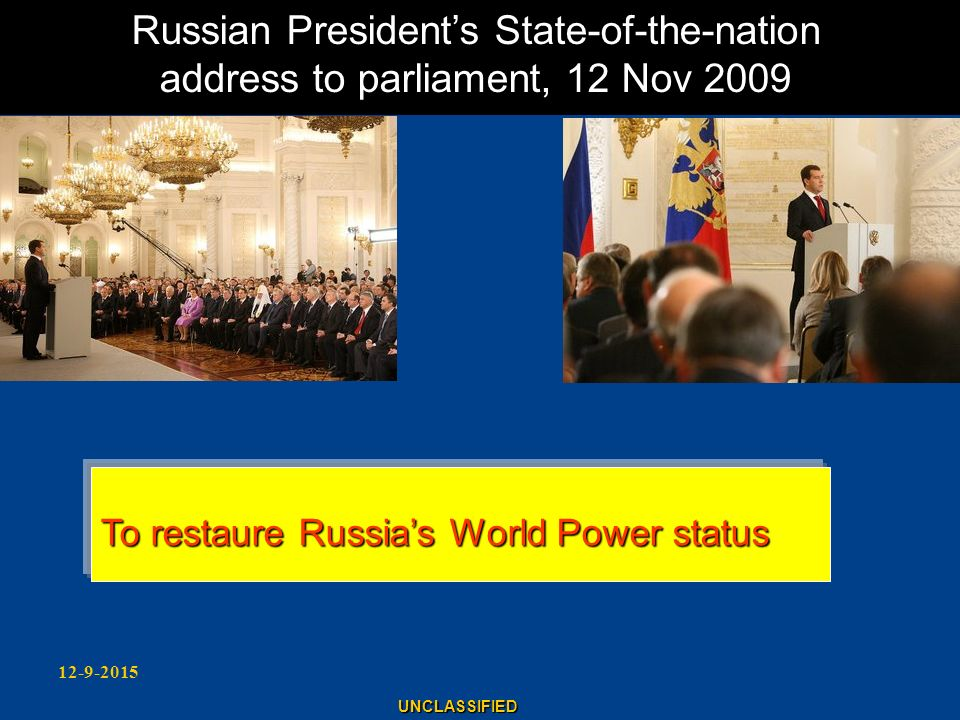 Russian President's State-of-the-nation address to parliament, 12 Nov 2009