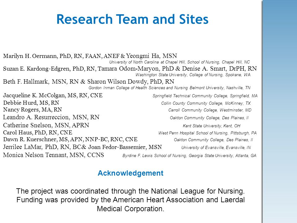 Research Team and Sites