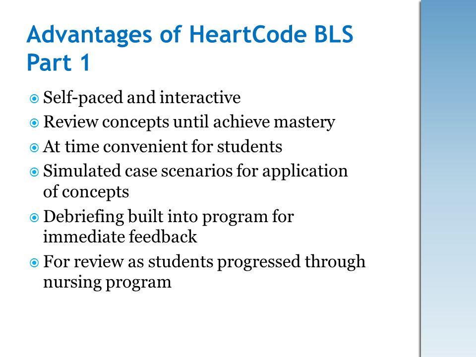 Advantages of HeartCode BLS Part 1
